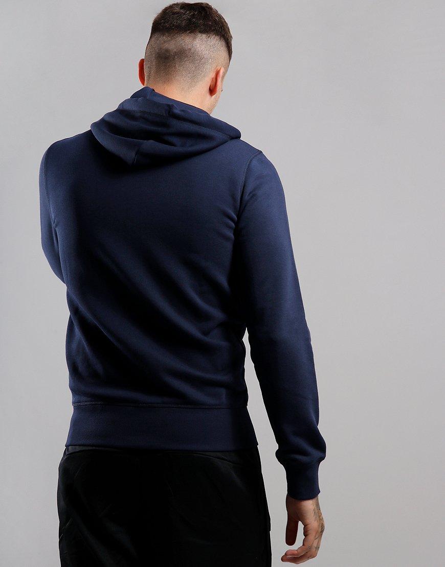 GANT Original Full Zip Hoodie Evening Blue