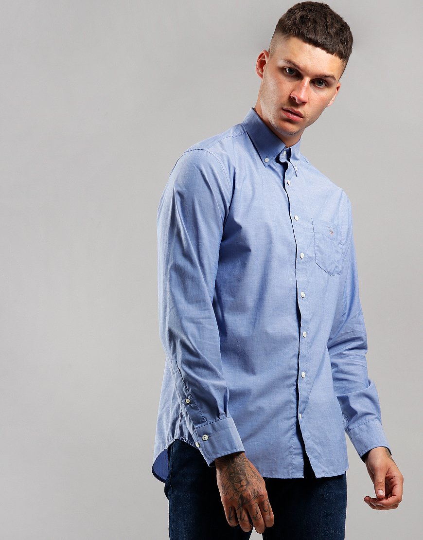 GANT Broadcloth Shirt  College Blue