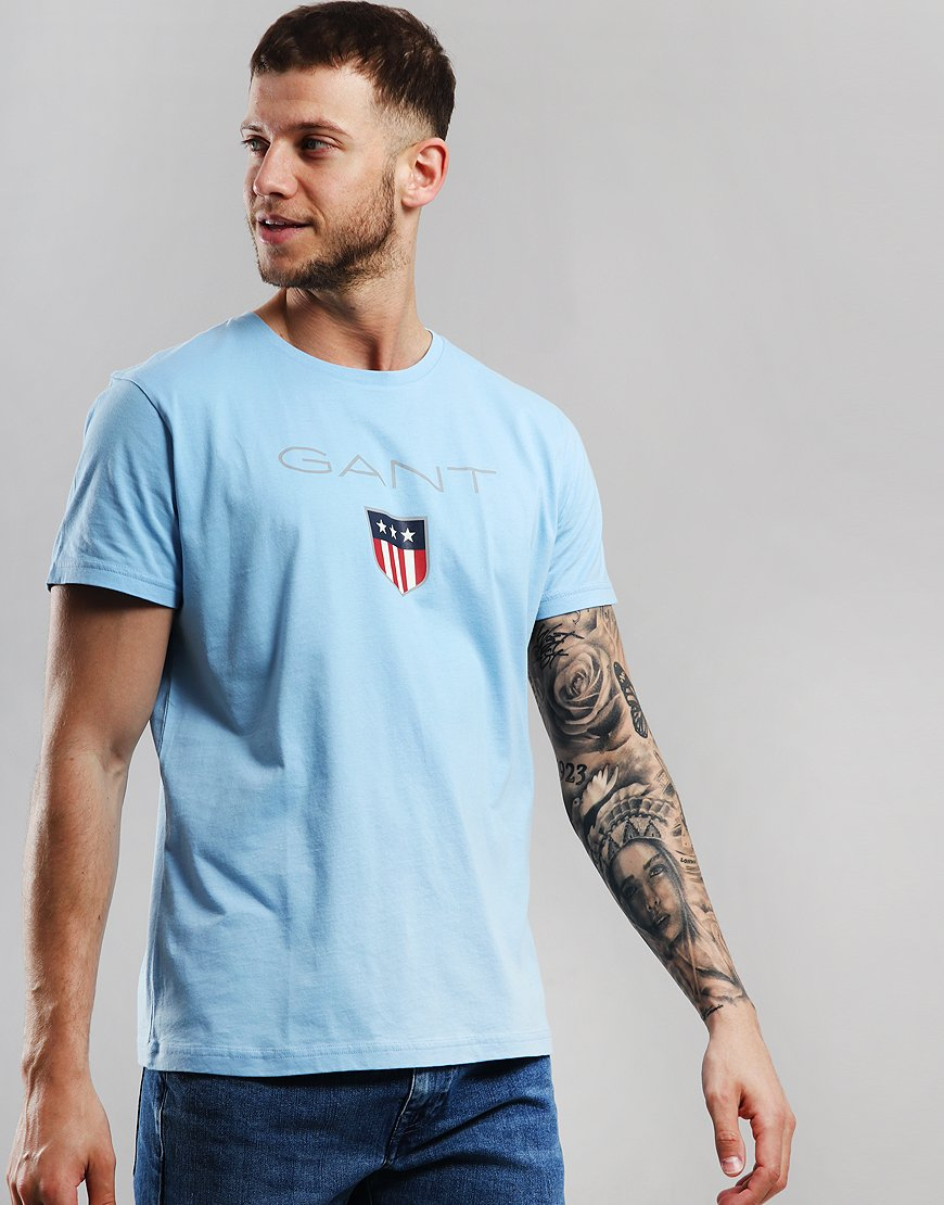 Gant Shield T-Shirt Capri Blue