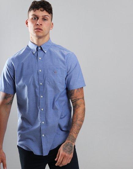 Gant Short Sleeve Broadcloth Shirt College Blue