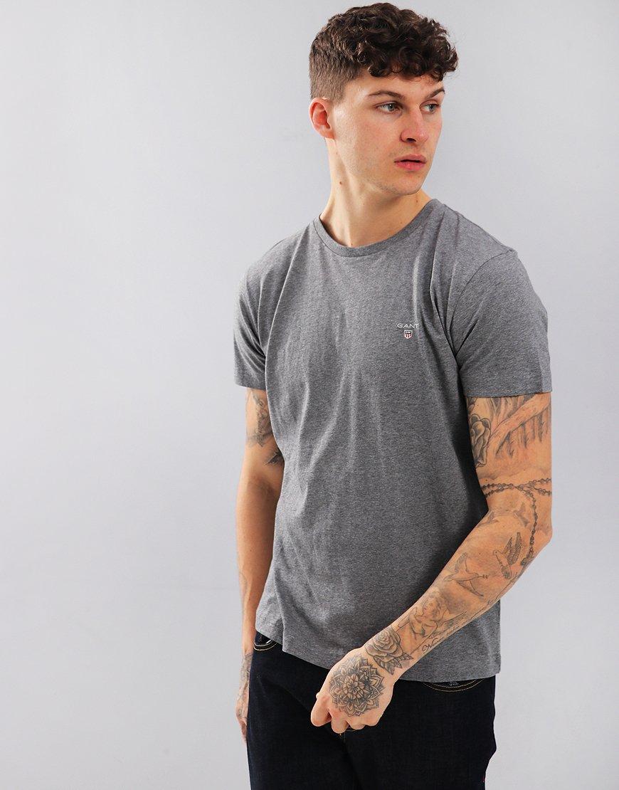 Gant Solid T-Shirt Dark Grey Melange