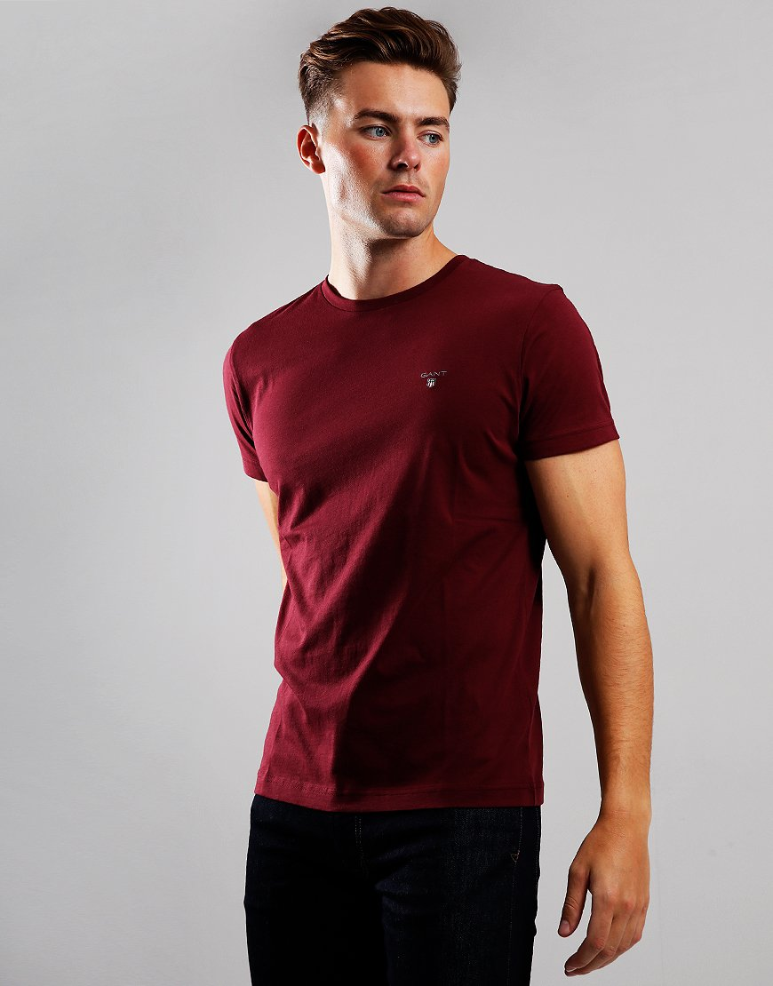 Gant Solid T-Shirt  Port Red