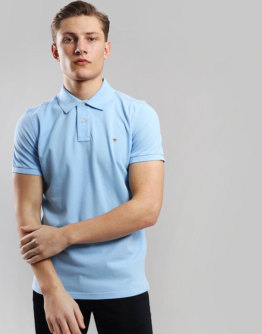 Gant Pique Polo Shirt Capri Blue
