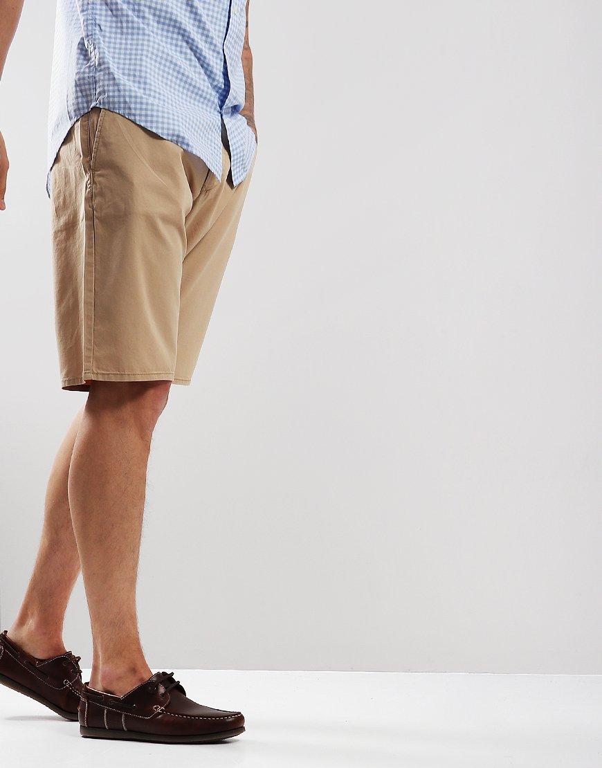 GANT Cotton Summer Chino Shorts Dark Khaki