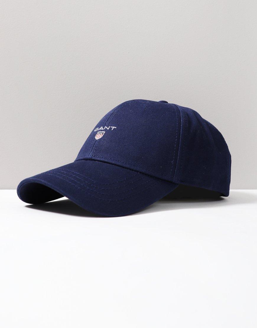 68988702 GANT Cotton Twill Cap Persian Blue - Terraces Menswear