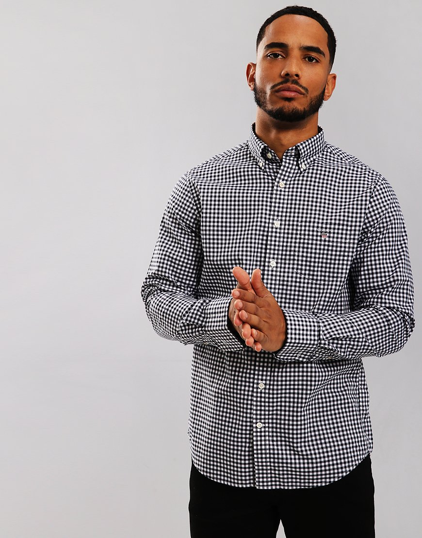 Gant Gingham Long Sleeve Shirt Marine