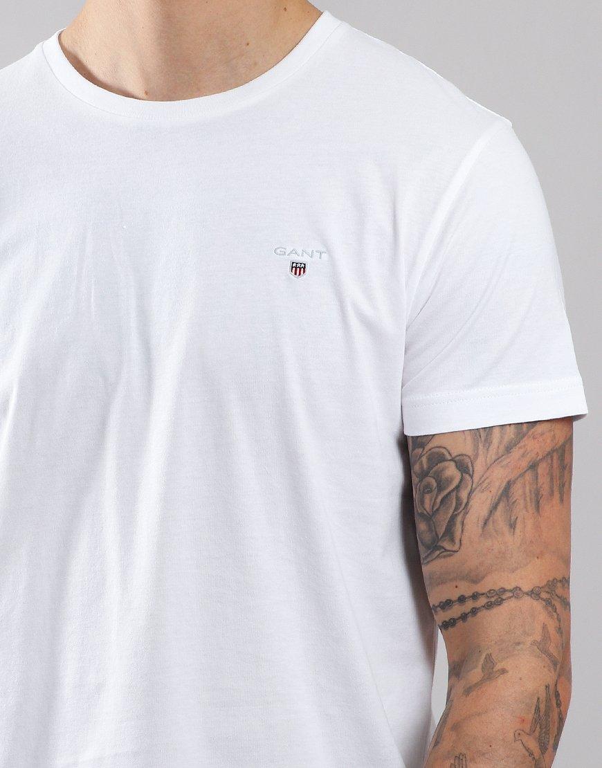 GANT Solid T-Shirt   White