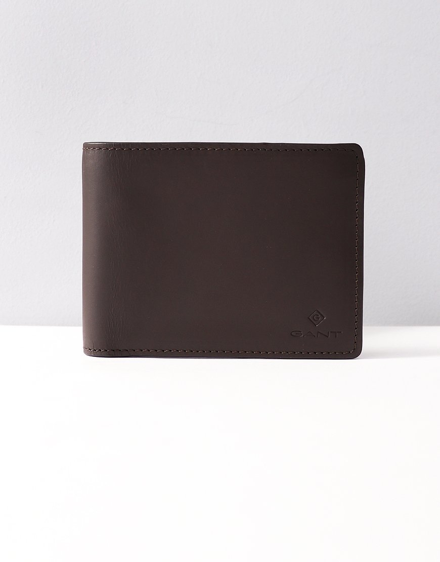 Gant Billfold Wallet Black Coffee