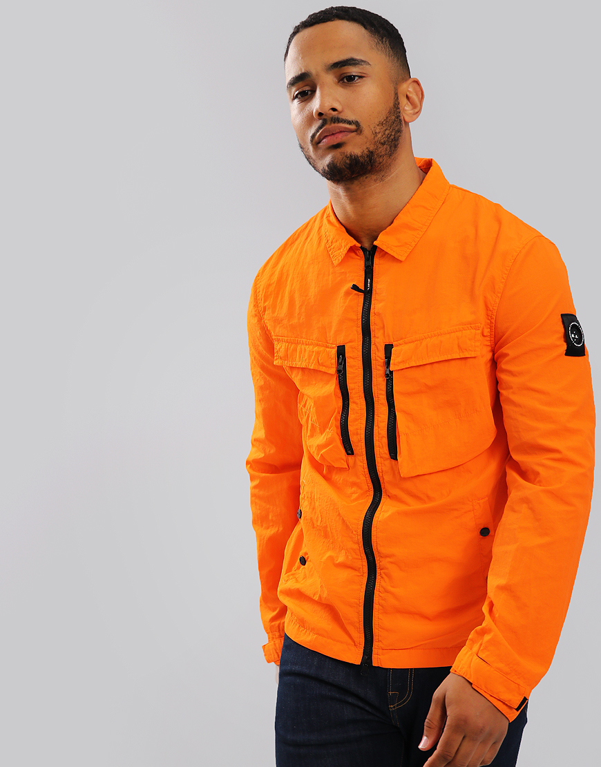Marshall Artist Garment Dyed Overshirt Orange