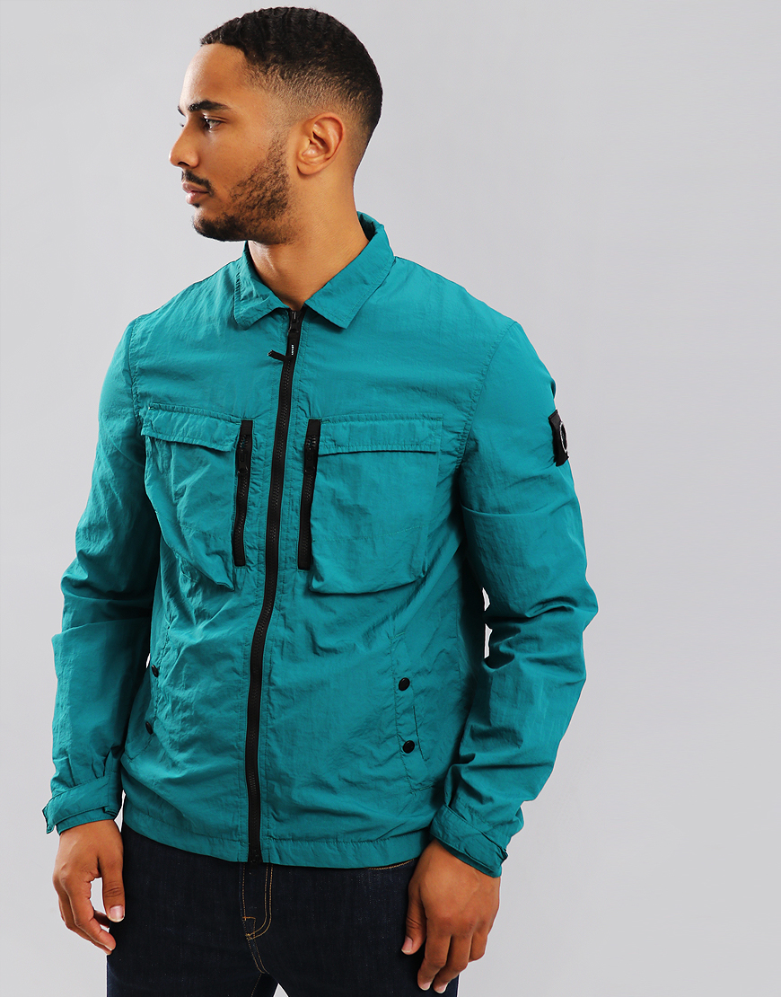Marshall Artist Garment Dyed Overshirt Teal