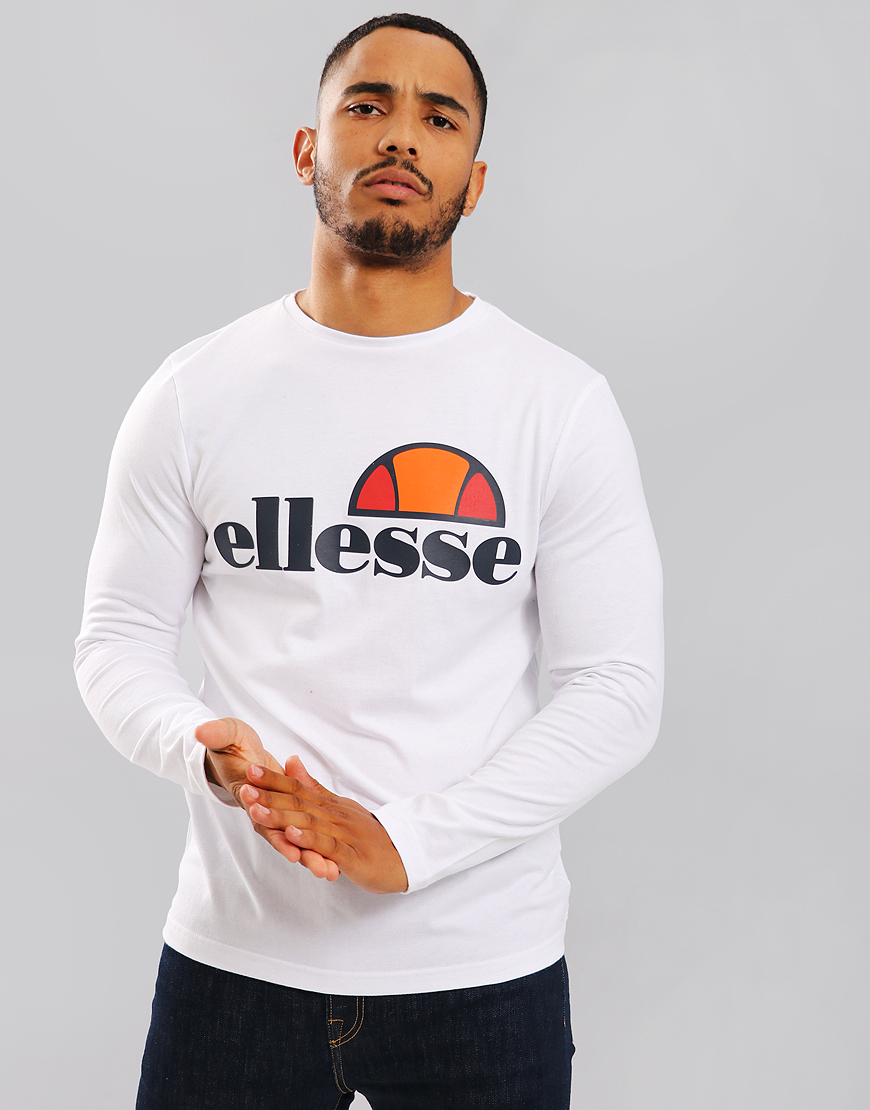 Ellesse Grazie Long Sleeve T-Shirt White