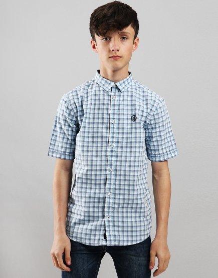Henri Lloyd Junior Check Shirt Eggshell Blue