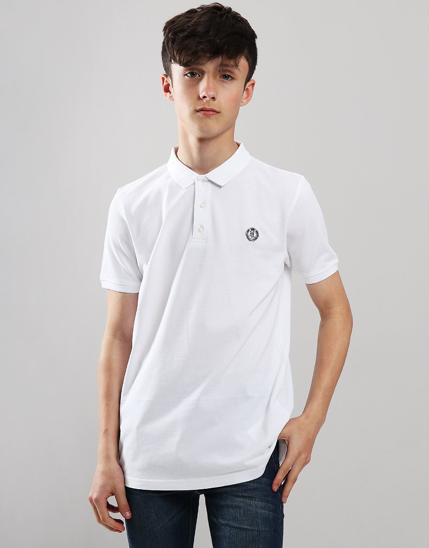 Henri Lloyd Junior Cowes Polo Shirt Bright White
