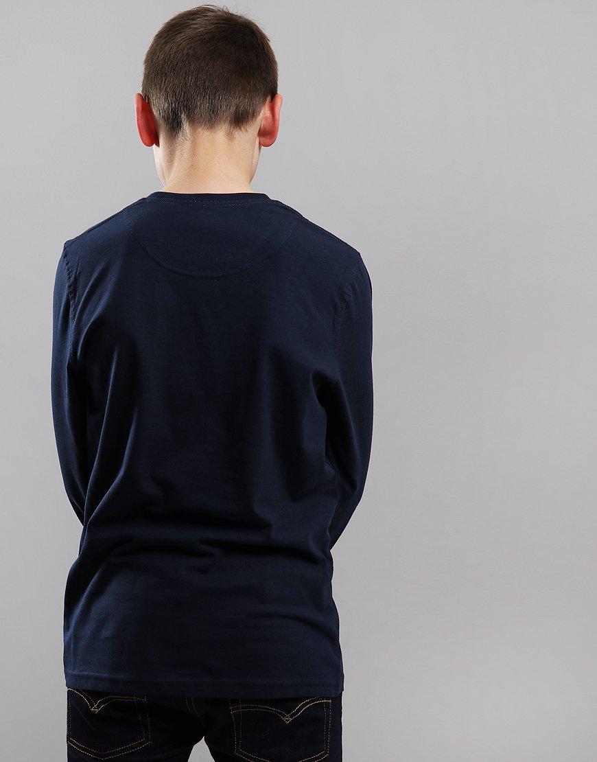 Henri Lloyd Junior Long Sleeve Radar T-Shirt Navy Blazer