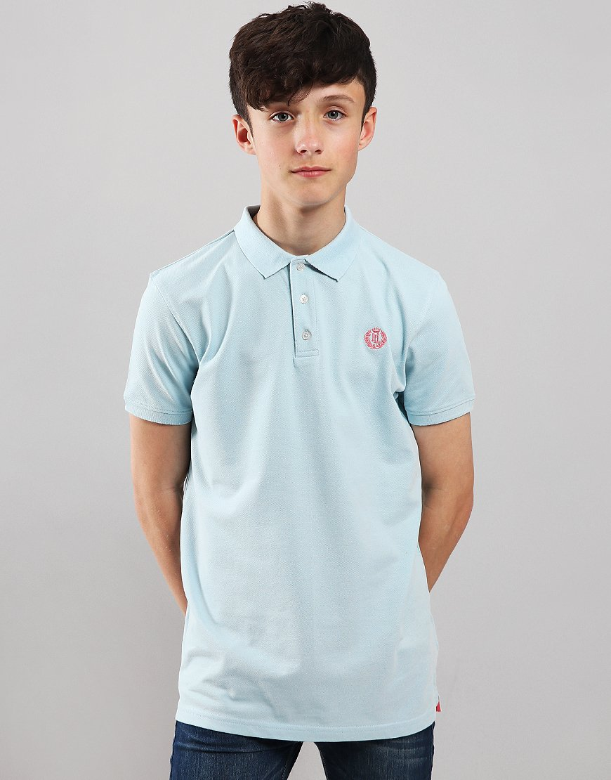 Henri Lloyd Junior Pop Collar Polo Shirt Aquamarine