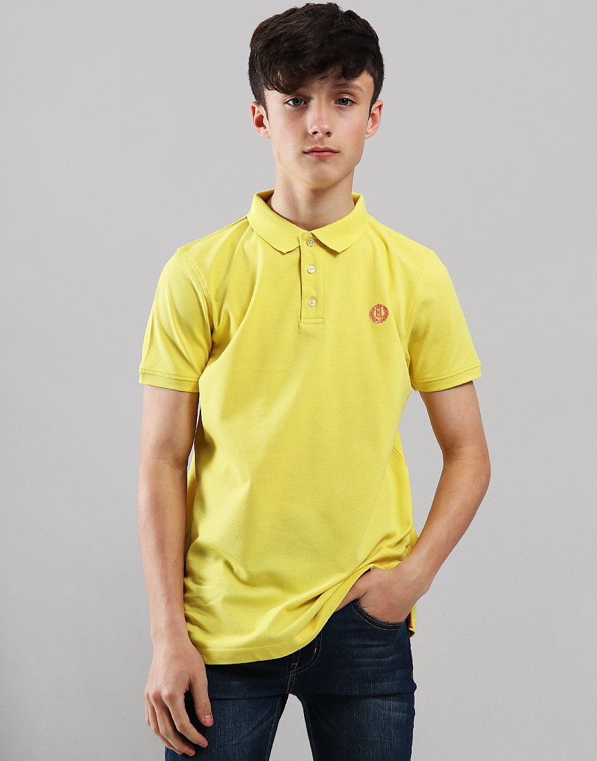 Henri Lloyd Junior Pop Collar Polo Shirt Golden Kiwi