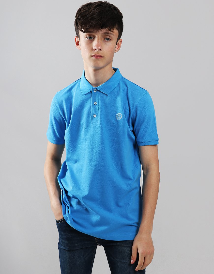 Henri Lloyd Junior Pop Collar Polo Shirt Lapis Blue