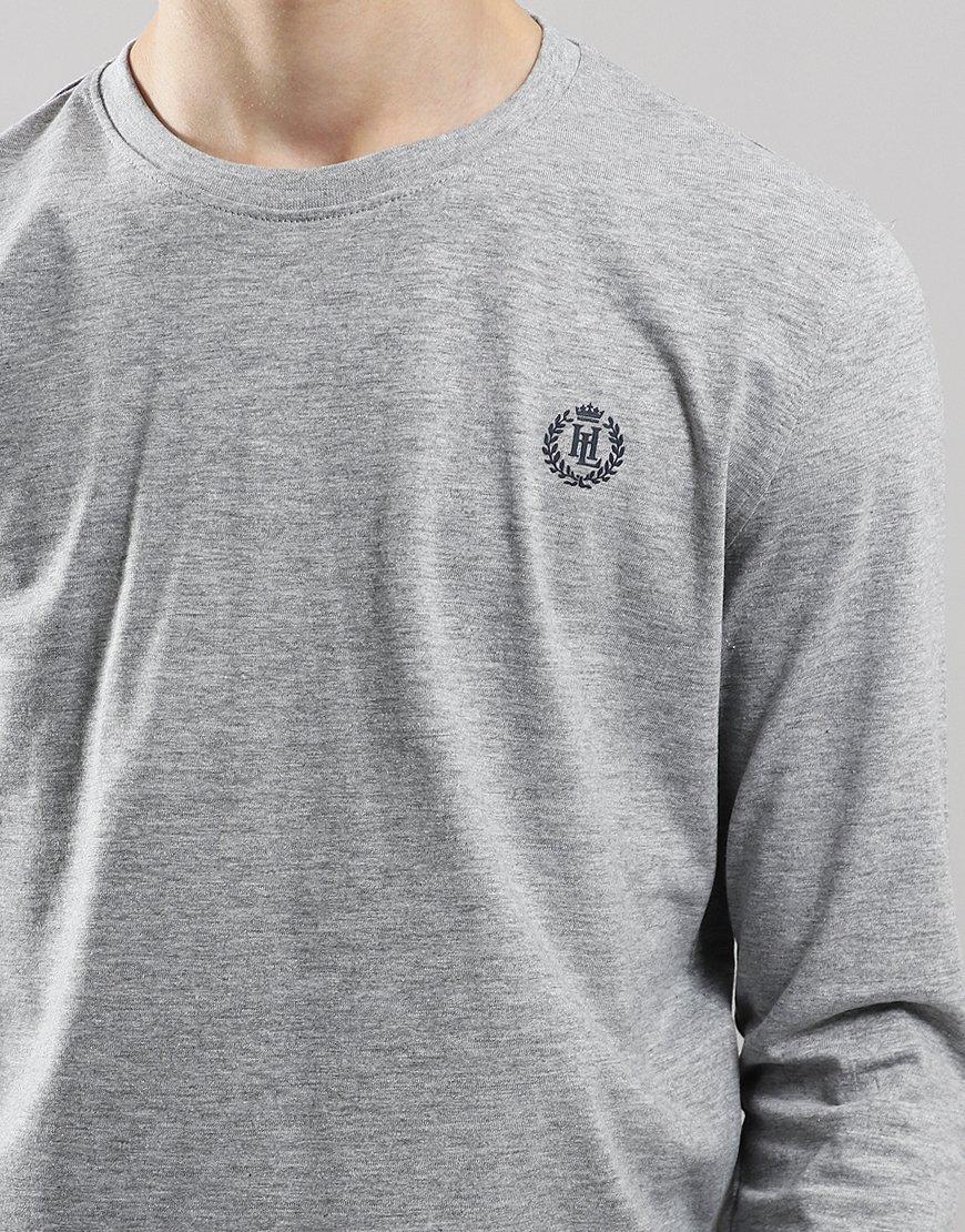 Henri Lloyd Junior Long Sleeve Radar T-Shirt Vintage Grey Heather