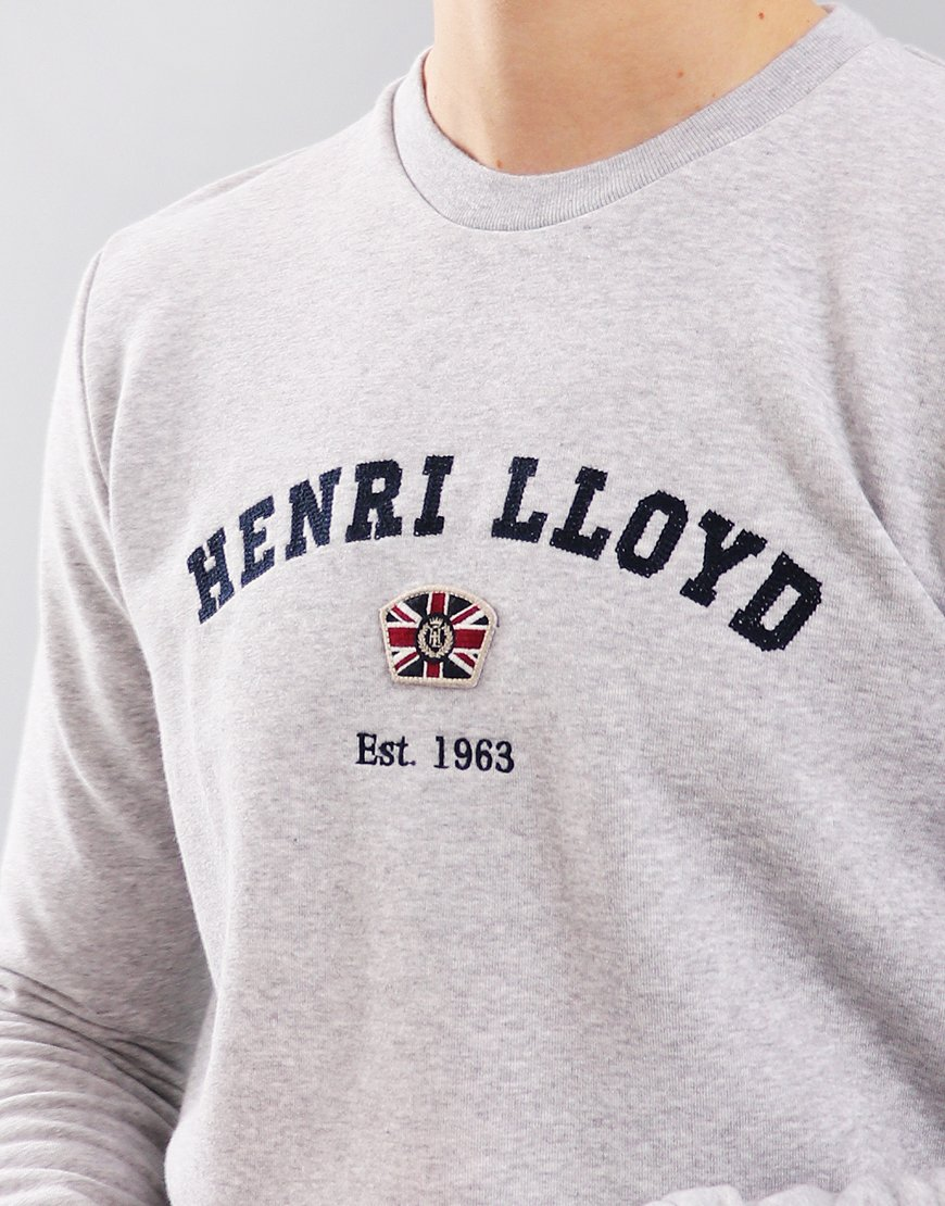 42d93b02b65 Henri Lloyd Kyme Crew Neck Sweat Grey Marl