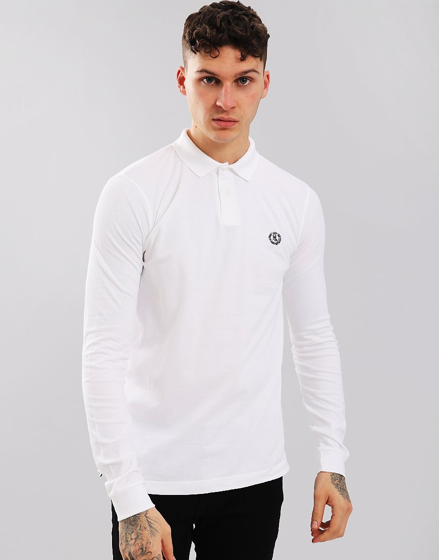 Henri Lloyd Nidd Long Sleeved Polo Shirt Bright White