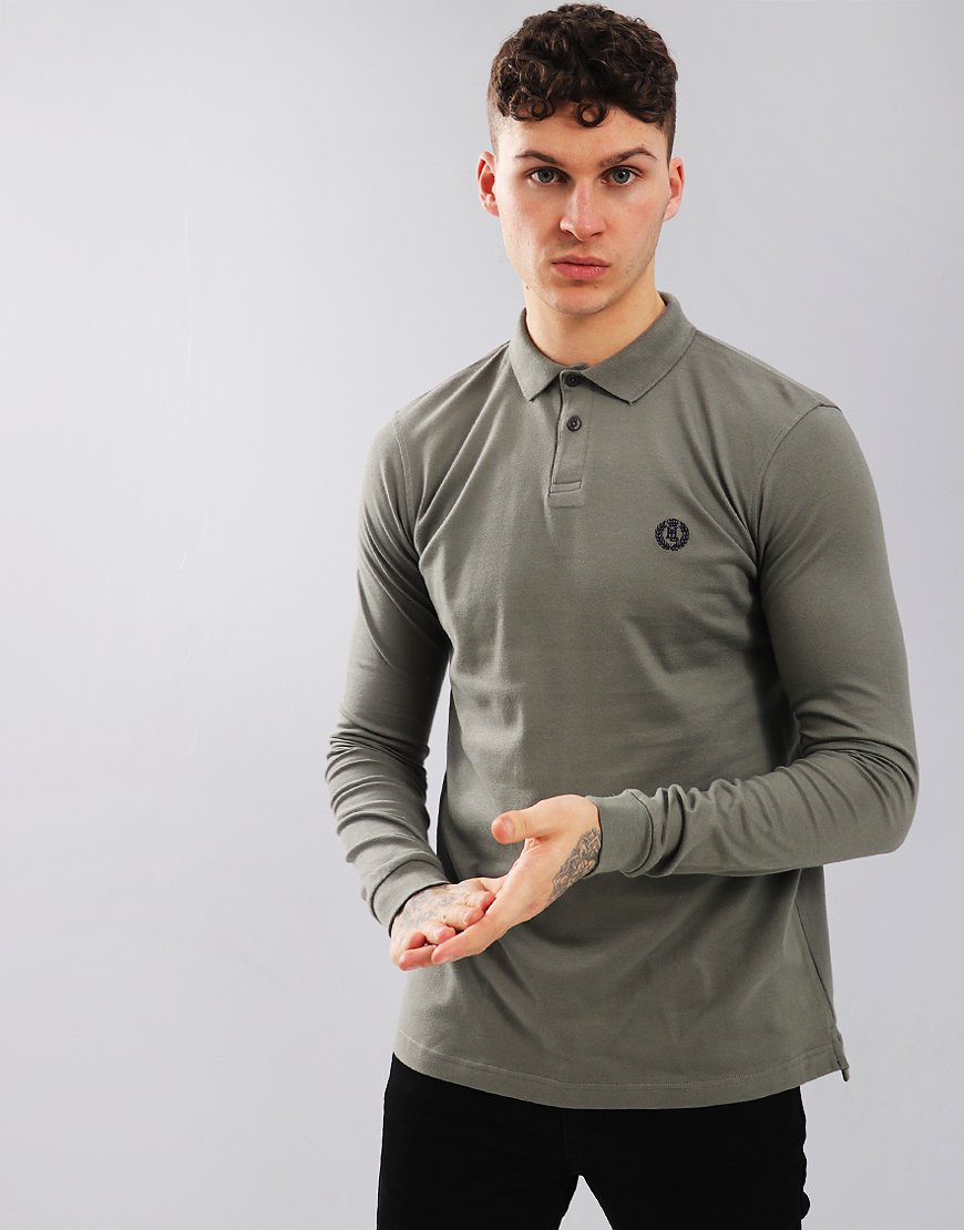 Henri Lloyd Nidd Long Sleeved Polo Shirt Castor Grey