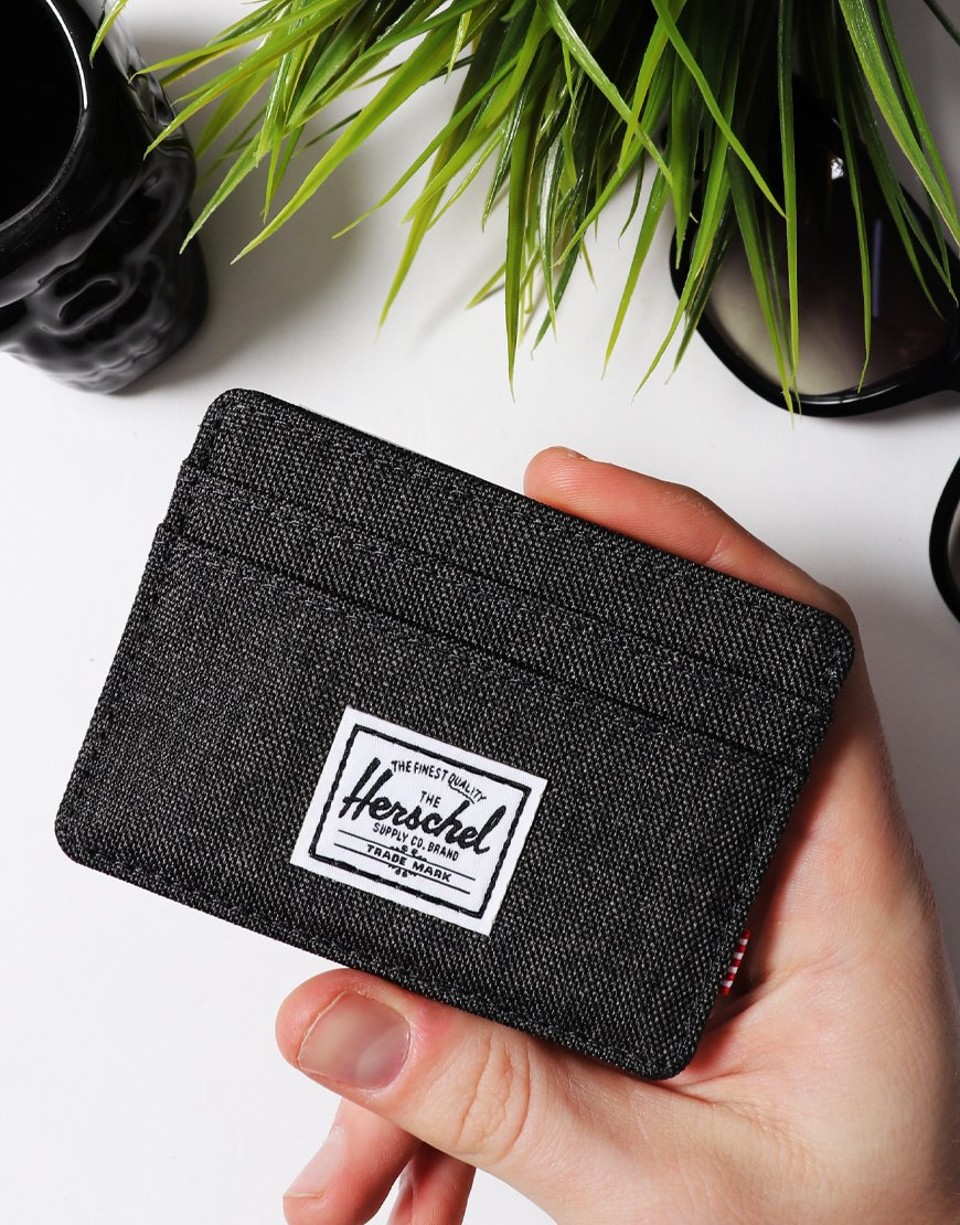 Herschel Charlie Cardholder  Black Crosshatch