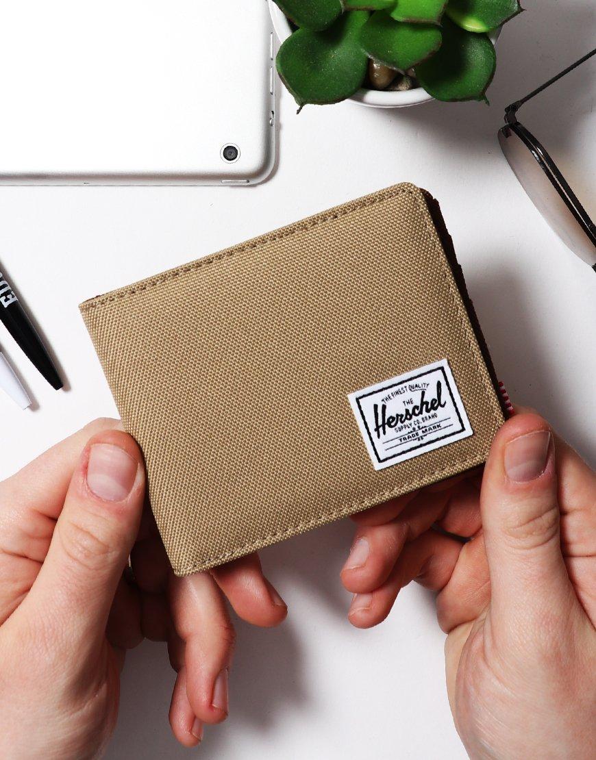Herschel Roy Bi-Fold Wallet Kelp/Saddle/Brown