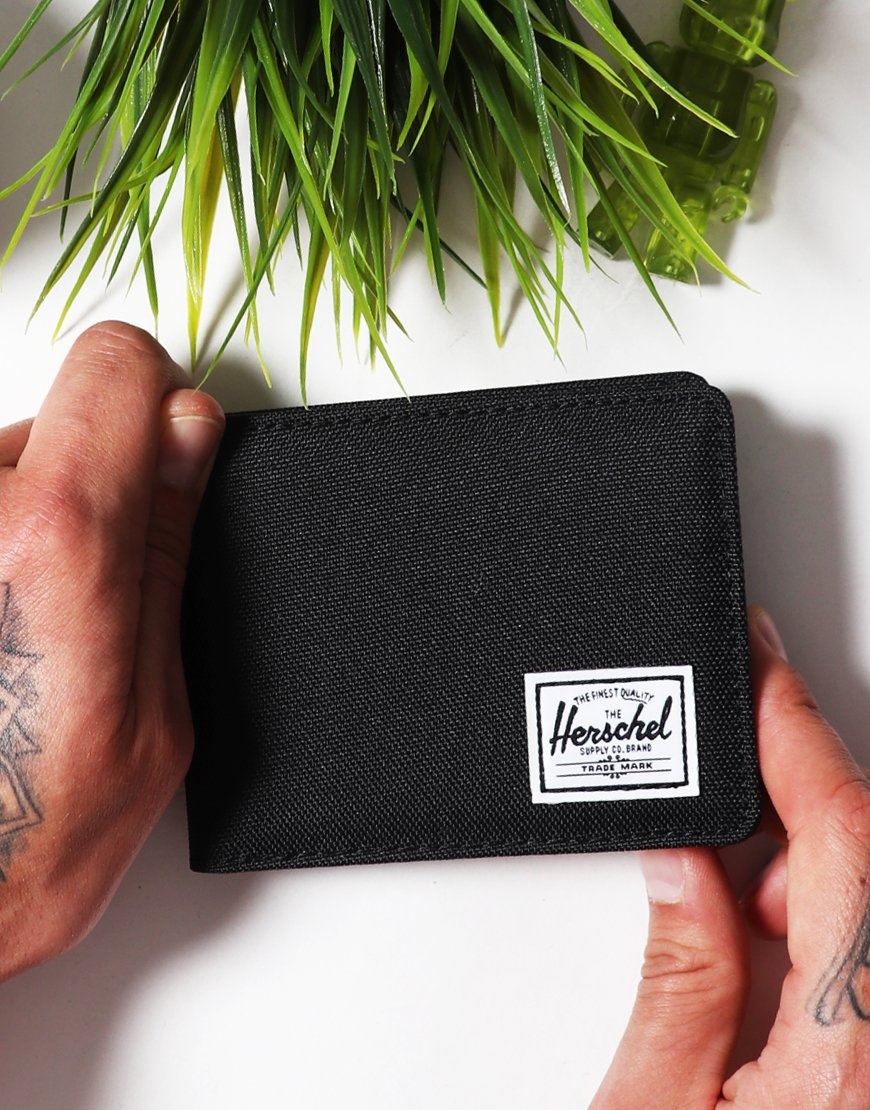 Herschel Roy Bi-Fold Wallet Black