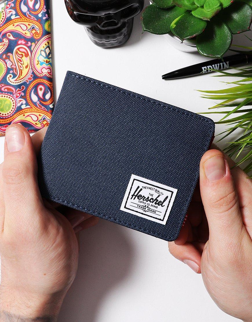 Herschel Roy Coin RFID Wallet Navy/Red