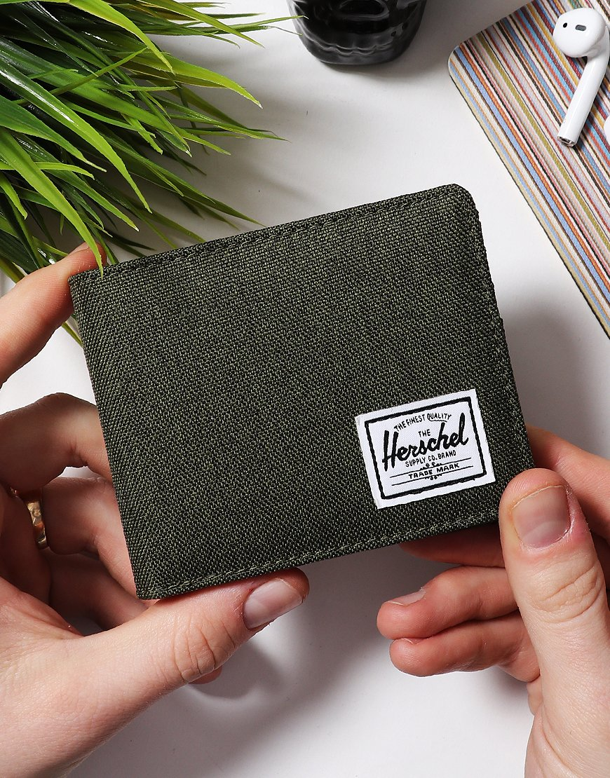 Herschel Roy Coin RFID Wallet Olive Night Cross