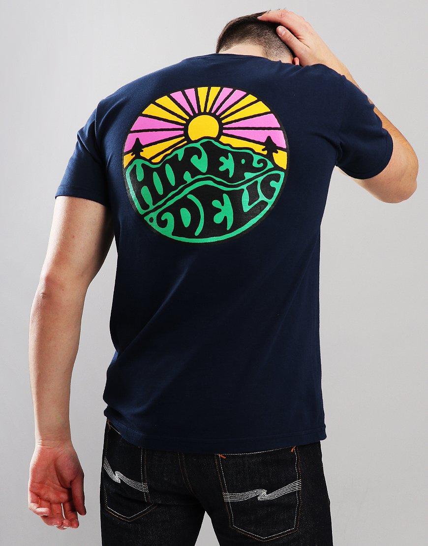 Hikerdelic OG Logo T-shirt Navy