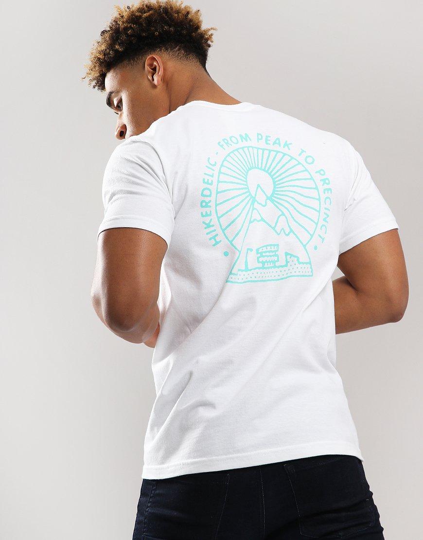 Hikerdelic From Peak To Precinct Logo T-Shirt White