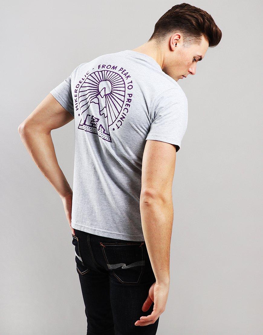 Hikerdelic From Peak To Precinct Logo T-Shirt Grey