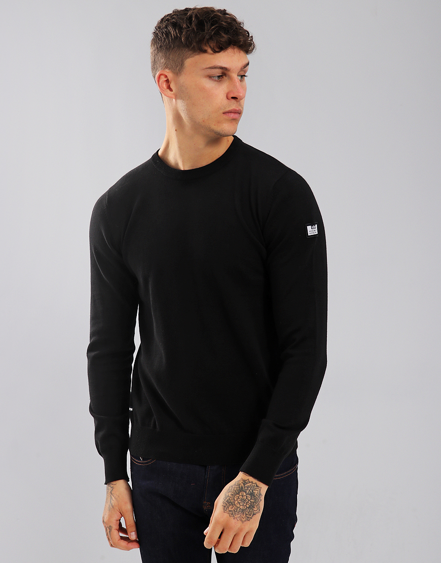 Weekend Offender Holmes Crew Knit Black
