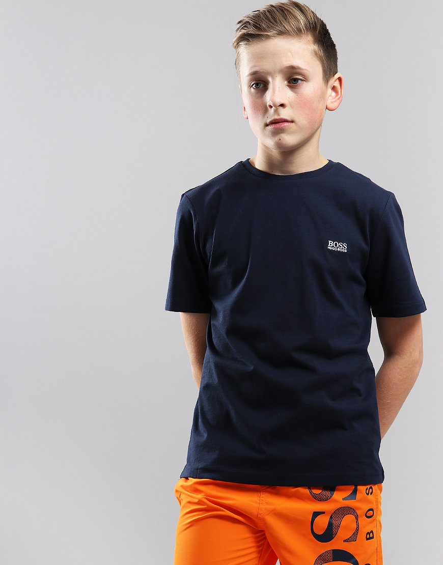 af716e23 BOSS Kids Small Logo T-Shirt Navy