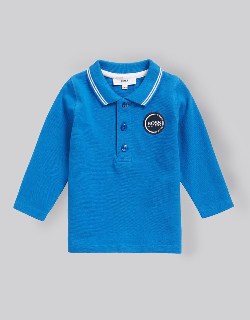 90f953ed3d5d6 Hugo Boss Kids Long Sleeve Polo Shirt Electric Blue