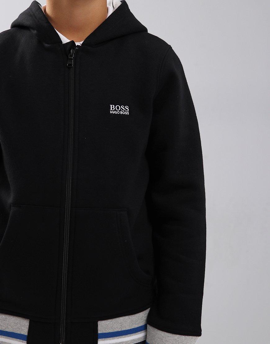f757e3d8a030 BOSS Kids Zip Hoodie Black - Terraces Menswear