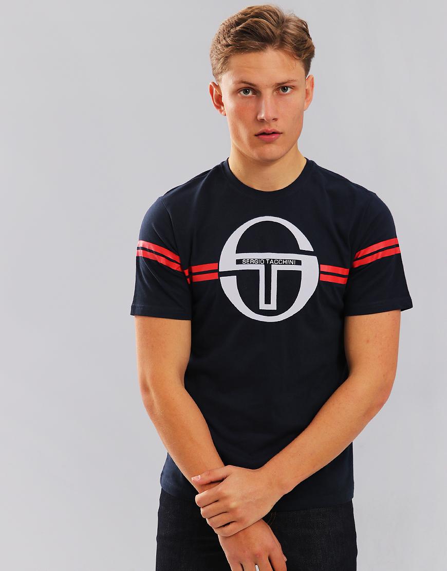 Sergio Tacchini Izan T-Shirt Navy/White