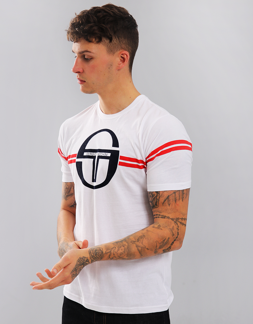 Sergio Tacchini Izan T-Shirt White/Navy