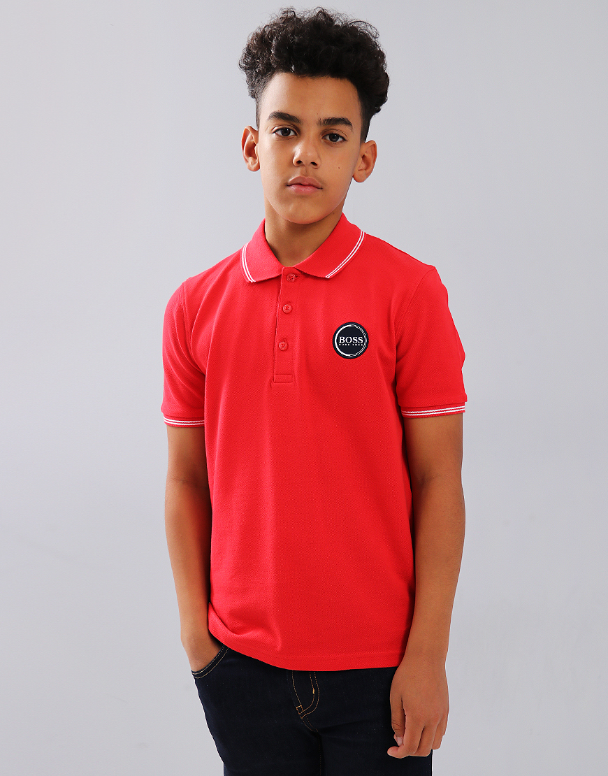 BOSS Kids J25C79 Polo Shirt Red