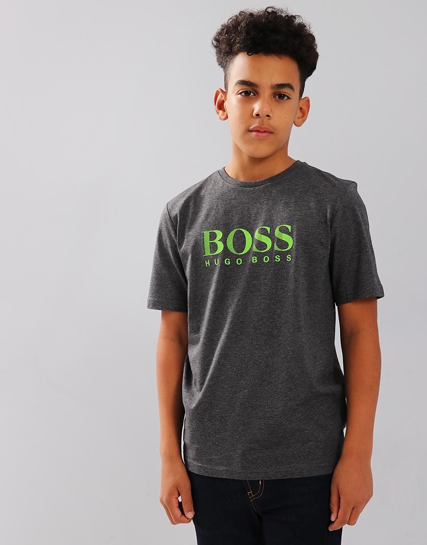 BOSS Kids J25D13 Print Tee Charcoal