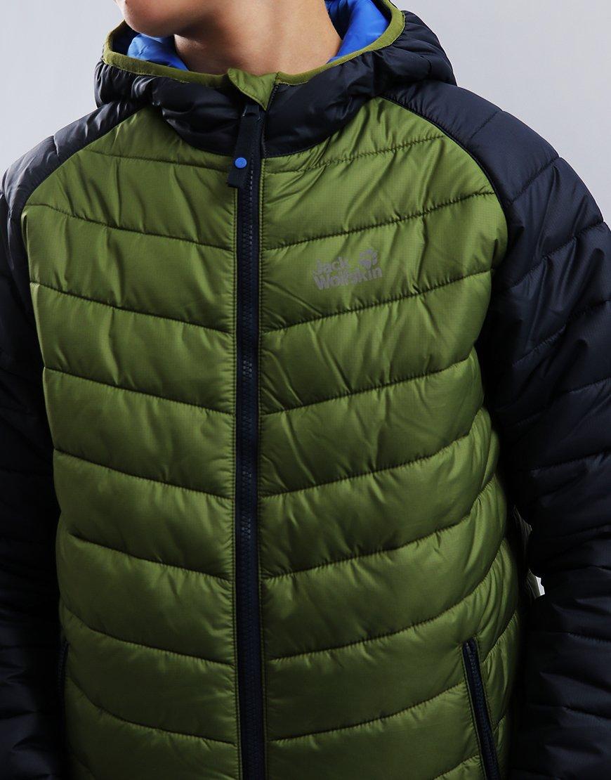 bb5c30e3a54c Jack Wolfskin Kids K Zenon Jacket Cypress - Terraces Menswear
