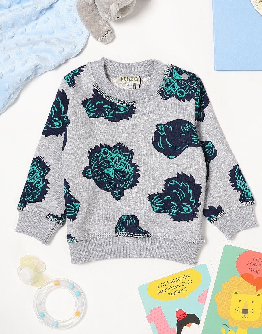 Kenzo Baby Fergusson Sweat Marl Grey