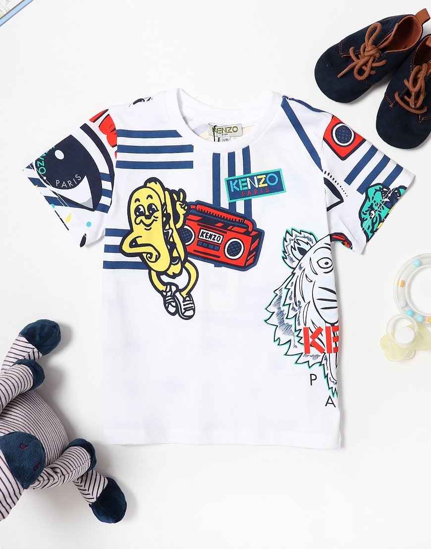 Kenzo Baby Fino BB T-Shirt Optic White