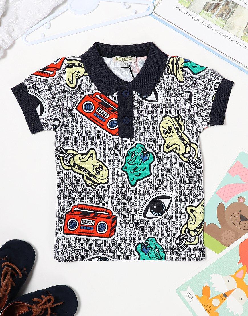 Kenzo Baby Flinter Polo Shirt Optic White