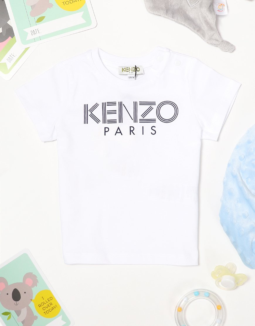 Kenzo Kids Logo BB1 T-Shirt Optic White