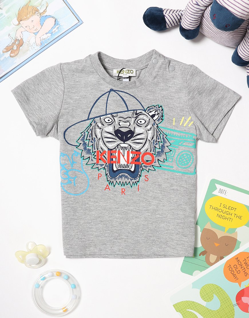 83b4a981 Kenzo Baby Tiger JB3 T-Shirt Marl Grey - Terraces Menswear