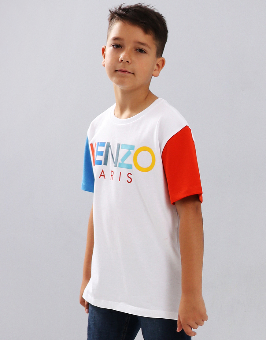 Kenzo Kids Edvy T-Shirt Optical White