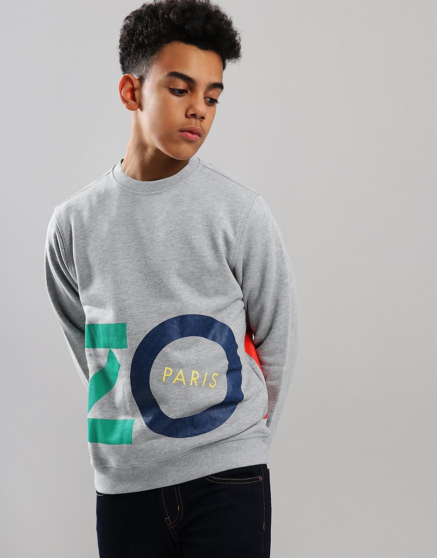 Kenzo Kids Fiorino Sweat Marl Grey