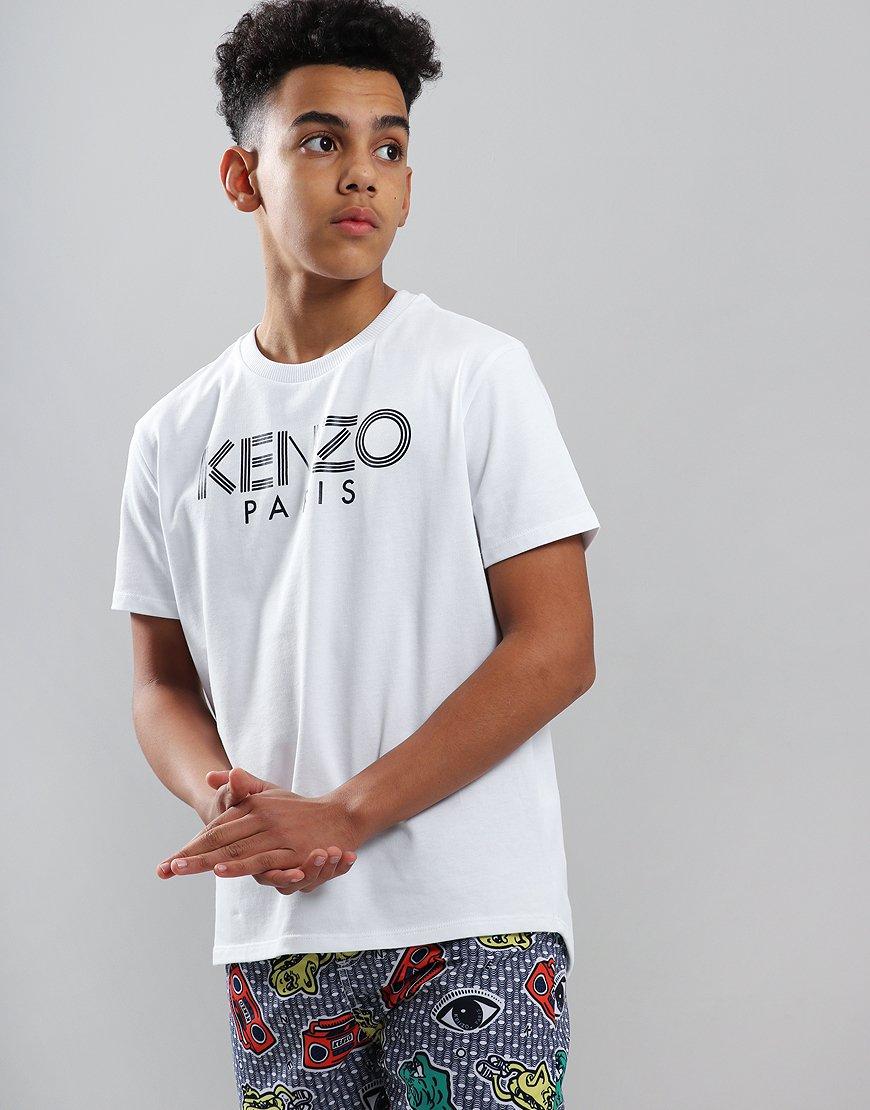 Kenzo Kids Logo JB2 T-Shirt Optic White